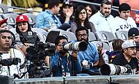 FOTOGRAFOS..<br /> .<br /> Acciones, durante el partido de beisbol entre<br /> Criollos de Caguas de Puerto Rico contra las &Aacute;guilas Cibae&ntilde;as de Republica Dominicana, durante la Serie del Caribe realizada en estadio Panamericano en Guadalajara, M&eacute;xico,  s&aacute;bado 4 feb 2018. <br /> (Foto  / Luis Gutierrez)