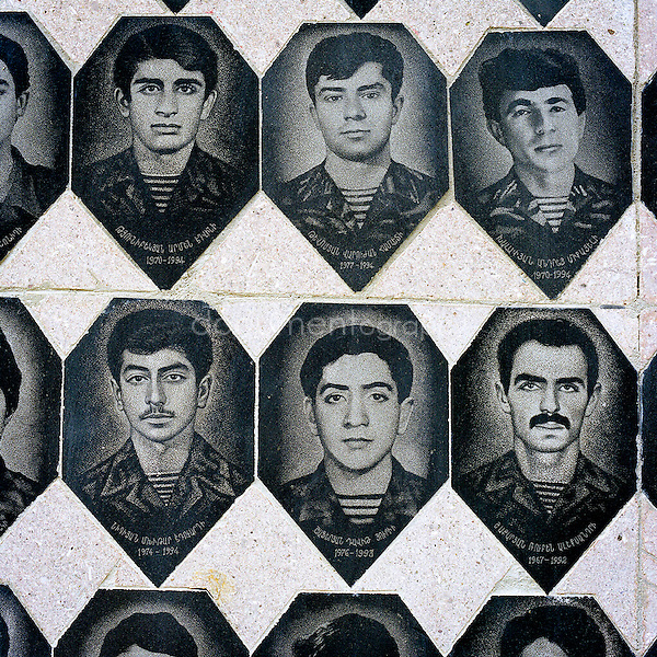 Memorial for students of the State University of Stepanakert who lost their life during the conflict between 1988-1994.