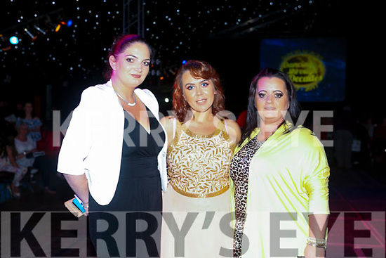 Mags Sweeney, Ann Fitzgibbon and Sabrina O Brien at the Austin Stacks Strictly Come Dancing on Saturday night
