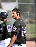 Helder Velazquez / Colorado Rockies 2008 Instructional League..Photo by:  Bill Mitchell/Four Seam Images