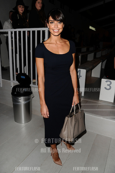 Christine Bleakley at the Jasper Conran catwalk show as part of London Fashion Week SS13, Somerset House, London.14/09/2012 Picture by: Steve Vas / Featureflash