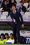 Japan Head Coach Hajime Moriyasu gestures during the AFC Asian Cup UAE 2019 Semi Finals match between I.R. Iran (IRN) and Japan (JPN) at Hazza Bin Zayed Stadium  on 28 January 2019 in Al Alin, United Arab Emirates. Photo by Marcio Rodrigo Machado / Power Sport Images