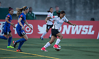 Seattle, WA - Saturday July 22, 2017: Kristen McNabb, Samantha Kerr during a regular season National Women's Soccer League (NWSL) match between the Seattle Reign FC and Sky Blue FC at Memorial Stadium.