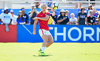 Cary, NC - Sunday October 22, 2017: Lindsey Horan during an International friendly match between the Women's National teams of the United States (USA) and South Korea (KOR) at Sahlen's Stadium at WakeMed Soccer Park.