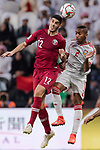 Karim Boudiaf of Qatar (L) fights for the ball with Ali Hassan Ali Salmin of United Arab Emirates (R) during the AFC Asian Cup UAE 2019 Semi Finals match between Qatar (QAT) and United Arab Emirates (UAE) at Mohammed Bin Zaied Stadium  on 29 January 2019 in Abu Dhabi, United Arab Emirates. Photo by Marcio Rodrigo Machado / Power Sport Images