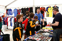 Photo: Richard Lane/Richard Lane Photography. Rosslyn Park HSBC National School Sevens. 28/03/2011. Raging Bull shop.