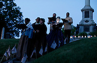 Actors dress up as people from the civil war while they take part during the Memorial day commemorations at Green Wood cemetery in New York City, United States 05/23/2015. Kena Betancur/VIEWpress