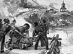Siege of Taganrog  - during the Crimean War (1853 1856). Bombardment of  Taganrog from the British raft during the first siege