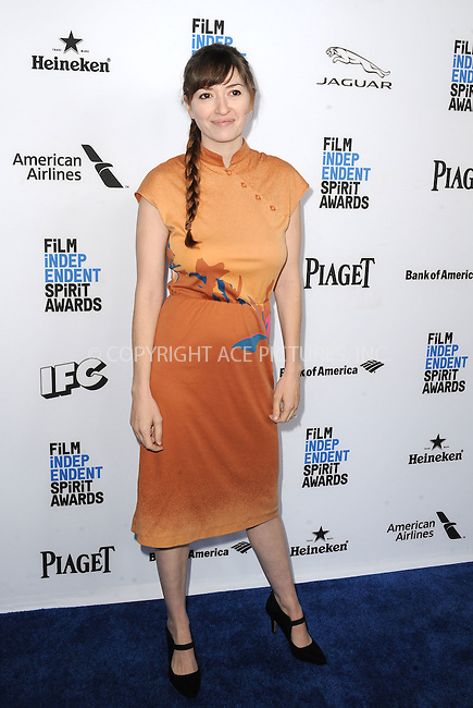 WWW.ACEPIXS.COM<br /> <br /> January 9 2016, New York City<br /> <br /> Marielle Heller arriving at the 2016 Film Independent Filmmaker Grant and Spirit Award Nominees Brunch at BOA Steakhouse on January 9, 2016 in West Hollywood, California. <br /> <br /> By Line: Peter West/ACE Pictures<br /> <br /> <br /> ACE Pictures, Inc.<br /> tel: 646 769 0430<br /> Email: info@acepixs.com<br /> www.acepixs.com
