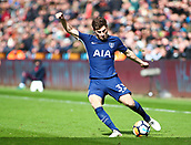 17th March 2018, Liberty Stadium, Swansea, Wales; FA Cup football, quarter-final, Swansea City versus Tottenham Hotspur; Ben Davies of Tottenham Hotspur crosses the ball during the 1st half