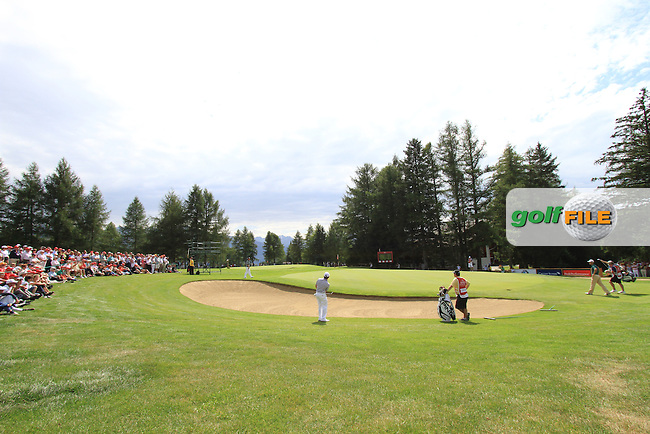 Louis Oosthuizen (RSA) on the 5th during the 2nd day of the Omega European Masters, Crans-Sur-Sierre, Crans Montana, Switzerland..Picture: Golffile/Fran Caffrey..
