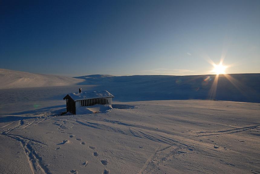 Winter sunset Landscape, landskap,