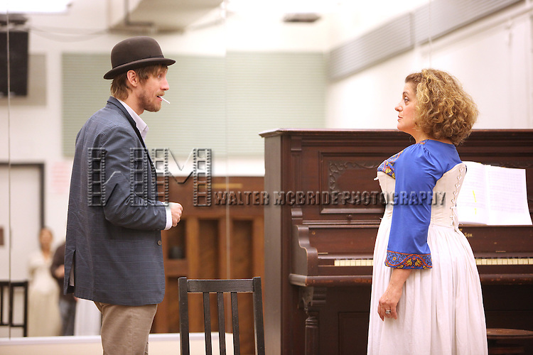 Andrew Samonsky & Mary Testa.performing in the Transport Group's 'Queen Of The Mist' Sneak Peek Press Preview at the New 42nd Street Studios in New York City.