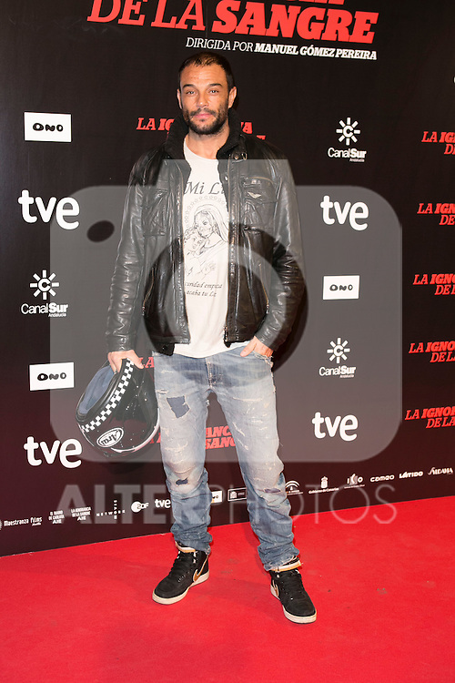 "Manuel Manzanero attends ""La Ignorancia de la Sangre"" Premiere at Capitol Cinema in Madrid, Spain. November 13, 2014. (ALTERPHOTOS/Carlos Dafonte)"
