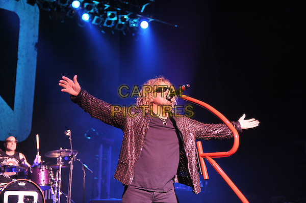 Sammy Hagar.Chickenfoot performing live in concert, Brixton Academy, London, England. 14th January 2012.on stage gig performance music length black suit sunglasses shades singing .half.CAP/MAR.© Martin Harris/Capital Pictures.