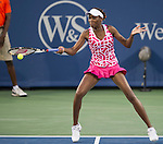 Venus Williams loses in the semifinals at the Western & Southern Open in Mason, OH on August 18, 2012.