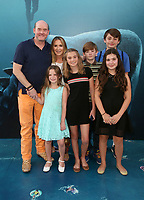 HOLLYWOOD, CA - August 6: David Koechner, Leigh Koechner, Margot Koechner, Sargent Koechner, Audrey Koechner, at Warner Bros. Pictures And Gravity Pictures' Premiere Of &quot;The Meg&quot; at TCL Chinese Theatre IMAX in Hollywood, California on August 6, 2018. <br /> CAP/MPI/FS<br /> &copy;FS/MPI/Capital Pictures