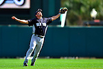 8 March 2011: New York Yankees' infielder Doug Bernier calls for an infield pop-up during a Spring Training game against the Atlanta Braves at Champion Park in Orlando, Florida. The Yankees edged out the Braves 5-4 in Grapefruit League action. Mandatory Credit: Ed Wolfstein Photo