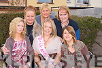 TRAVEL: Margaret Savage (O'Rahillys Villas) who with her friends and family travelled to London on Friday from Kerins O'Rahillys GAA Club, Tralee to go on her Hen week-end. L-R; Fiona Gaudino, Martina Dempsey, Margaret Savage, Pat Clapham, Anne McGlynn and Lillian O'Brien.....................