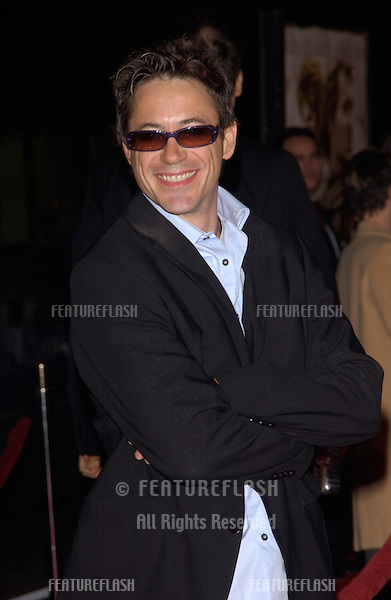Nov 16, 2004; Los Angeles, CA: Actor ROBERT DOWNEY JR. at the world premiere, in Hollywood, of Alexander..