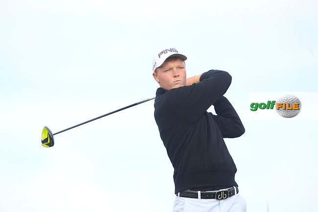 Robin Dawson (Faithlegg) on the 4th tee during Round 1 Matchplay of the North of Ireland Amateur Open Championship at Royal Portrush, Dunluce Course on Wednesday 15th July 2015.<br /> Picture:  Golffile | Thos Caffrey