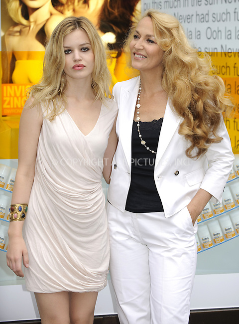 "WWW.ACEPIXS.COM . . . . .  ..... . . . . US SALES ONLY . . . . .....May 27 2010, London....Georgia Jagger and Jerry Hall at the UK launch of Australian sun care brand ""INVISIBLE ZINC"" at Selfridges in London - 27 May 2010......Please byline: FAMOUS-ACE PICTURES... . . . .  ....Ace Pictures, Inc:  ..tel: (212) 243 8787 or (646) 769 0430..e-mail: info@acepixs.com..web: http://www.acepixs.com"