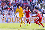 Tom Rogic of Australia (C) in action during the AFC Asian Cup UAE 2019 Group B match between Palestine (PLE) and Australia (AUS) at Rashid Stadium on 11 January 2019 in Dubai, United Arab Emirates. Photo by Marcio Rodrigo Machado / Power Sport Images