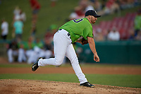 Kane County Cougars pitcher Blake Workman (30) during a Midwest League game against the Dayton Dragons on July 20, 2019 at Northwestern Medicine Field in Geneva, Illinois.  Dayton defeated Kane County 1-0.  (Mike Janes/Four Seam Images)