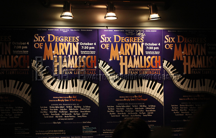 the All Star Benefit ?Six Degrees of Marvin Hamlisch? benefitting The Actors Fund and honoring Broadway Musical Director Fran Liebergall at Symphony Space in New York City.  October 4, 2010..