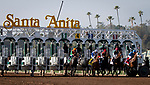 ARCADIA, CA: Start of the the Grade II Las Virgenes Stakes at Santa Anita Park in Arcadia, California on February 08, 2020.