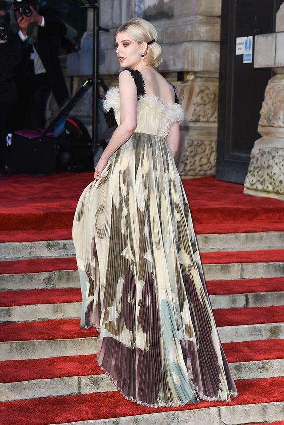 Lucy Boynton<br /> arriving for the BAFTA Film Awards 2019 at the Royal Albert Hall, London<br /> <br /> ©Ash Knotek  D3478  10/02/2019