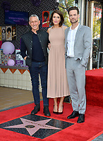 LOS ANGELES, CA. March 25, 2019: Adam Shankman, Mandy Moore & Shane West at the Hollywood Walk of Fame Star Ceremony honoring actress & singer Mandy Moore.<br /> Pictures: Paul Smith/Featureflash