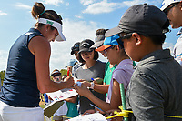Gerina Piller (USA) signs autographs for young fans following  round 4 of the Volunteers of America Texas Classic, the Old American Golf Club, The Colony, Texas, USA. 10/6/2019.<br /> Picture: Golffile | Ken Murray<br /> <br /> <br /> All photo usage must carry mandatory copyright credit (© Golffile | Ken Murray)
