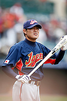 Kosuke Fukudome of Japan during World Baseball Championship at Angel Stadium in Anaheim,California on March 12, 2006. Photo by Larry Goren/Four Seam Images