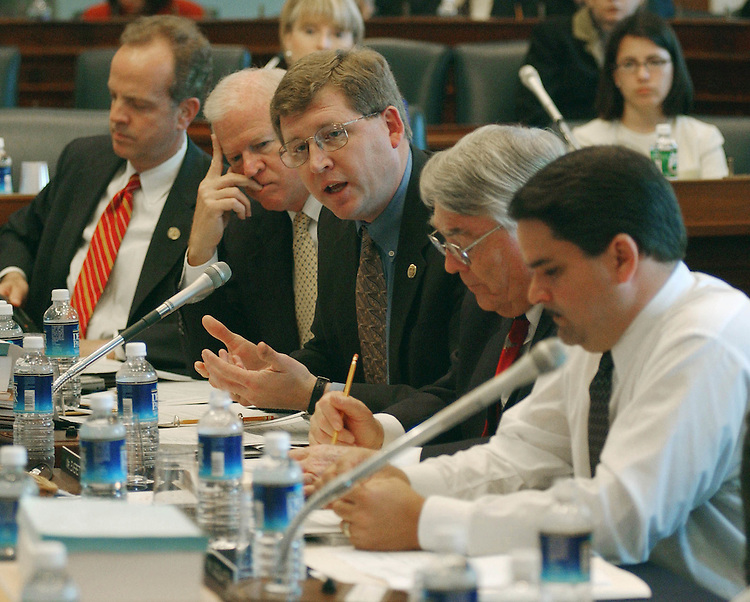 4/18/02.FARM BILL CONFERENCE--Frank Lucas, R-Okla., speaking, during the farm bill conference in the House Agriculture meeting room..CONGRESSIONAL QUARTERLY PHOTO BY SCOTT J. FERRELL