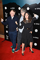 Mike White, Miguel Arteta &amp; Salma Hayek at the premiere of &quot;Beatriz at Dinner&quot; at the Sundance Film Festival London Opening Night at Picturehouse Central, London.<br /> 01 June  2017<br /> Picture: Steve Vas/Featureflash/SilverHub 0208 004 5359 sales@silverhubmedia.com