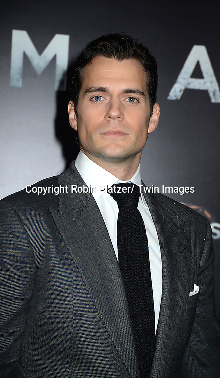 """Henry Cavill attend the World Premiere of """"Man of Steel"""" on June 10, 2013 at Alice Tully Hall in New York"""