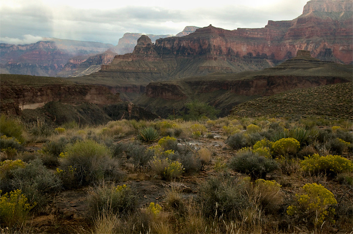 Fall storms on the Tonto Plateau.<br /> This is at the mouth of Tuna Creek, just before the drop to the river.