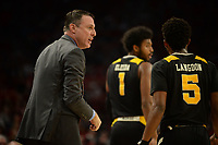 NWA Democrat-Gazette/ANDY SHUPE<br /> Northern Kentucky coach Darrin Horn directs his team Saturday, Nov. 30, 2019, during the first half of play against Arkansas in Bud Walton Arena. Visit nwadg.com/photos to see more photographs from the game.