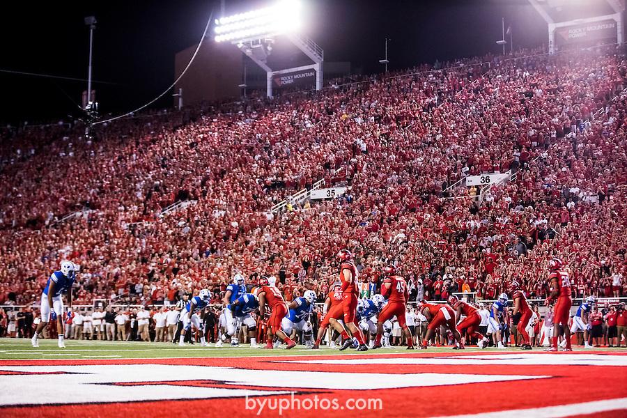 16FTB at Utah 4430<br /> <br /> 16FTB at Utah<br /> <br /> BYU Football at Utah - Deseret First Duel<br /> <br /> BYU-19<br /> Utah-20<br /> <br /> September 10, 2016<br /> <br /> Photo by Jaren Wilkey/BYU<br /> <br /> © BYU PHOTO 2016<br /> All Rights Reserved<br /> photo@byu.edu  (801)422-7322