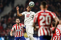 8th February 2020; Wanda Metropolitano Stadium, Madrid, Spain; La Liga Football, Atletico de Madrid versus Granada; Yangel Herrera (Granada CF)  wins the header over Saul Niguez of Atletico