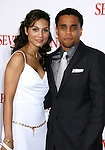 """WESTWOOD, CA. - December 16: Actor Michael Ealy and guest arrive at the Los Angeles premiere of """"Seven Pounds"""" at Mann's Village Theater on December 16, 2008 in Los Angeles, California."""