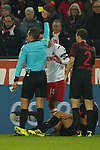 30.11.2019, RheinEnergieStadion, Koeln, GER, 1. FBL, 1.FC Koeln vs. FC Augsburg,<br />  <br /> DFL regulations prohibit any use of photographs as image sequences and/or quasi-video<br /> <br /> im Bild / picture shows: <br /> gelbe Karte für Jonas Hector (FC Koeln #14),  <br /> <br /> Foto © nordphoto / Meuter