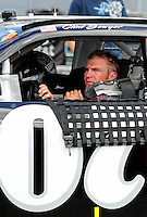 Sept. 20, 2008; Dover, DE, USA; Nascar Sprint Cup Series driver Clint Bowyer during practice for the Camping World RV 400 at Dover International Speedway. Mandatory Credit: Mark J. Rebilas-