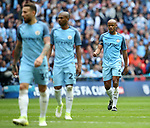 Manchester City's Vincent Kompany looks on dejected during the FA Cup Semi Final match at Wembley Stadium, London. Picture date: April 23rd, 2017. Pic credit should read: David Klein/Sportimage