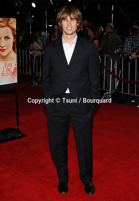 Jon Heder arriving at the Just Like Heaven Premiere at the Chinse Theatre in Los Angeles. September 8, 2005.