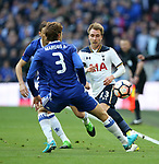 Tottenham's Christian Eriksen in action during the FA Cup Semi Final match at Wembley Stadium, London. Picture date: April 22nd, 2017. Pic credit should read: David Klein/Sportimage