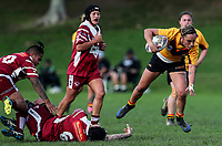 Krystal Rota of Manurewa in action. Premier Women's Rugby League, Papakura Sisters v Manurewa Wahine, Prince Edward Park, Auckland, Sunday 13th August 2017. Photo: Simon Watts / www.phototek.nz