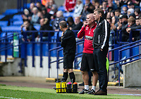 Bolton Wanderers' manager Phil Parkinson with U18's coach Nicky Spooner (left) <br /> <br /> Photographer Andrew Kearns/CameraSport<br /> <br /> The EFL Sky Bet Championship - Bolton Wanderers v Coventry City - Saturday 10th August 2019 - University of Bolton Stadium - Bolton<br /> <br /> World Copyright © 2019 CameraSport. All rights reserved. 43 Linden Ave. Countesthorpe. Leicester. England. LE8 5PG - Tel: +44 (0) 116 277 4147 - admin@camerasport.com - www.camerasport.com