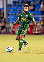13th July 2020, Orlando, Florida, USA;  during the MLS Is Back Tournament between the LA Galaxy versus Portland Timbers on July 13, 2020 at the ESPN Wide World of Sports, Orlando FL.
